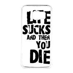 FRZ-Life Sucks And Then You Die Galaxy S6 Case Fit For Galaxy S6 Hardplastic Case White Framed FRZ http://www.amazon.com/dp/B016ZBPMXC/ref=cm_sw_r_pi_dp_bvSnwb15DVTQD