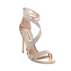 Wedding Shoes Sandals Heels Steve Madden 48 New Ideas Rose Gold Metallic Shoes, Gold Prom Shoes, Metallic High Heels, Rose Gold Sandals, Shoes For Prom, Metallic Sandals, Gold Heels, Silver Heels Prom, Rose Gold High Heels