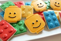 Easy Lego Cookies - great idea for kids birthday party. Maybe my sister @Jennifer Cohen can make them? non-primal-eats