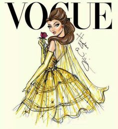 Beautiful Vogue cover of Belle by Hayden Williams Illustrations