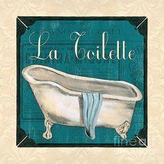 French Bath Print By Debbie Dewitt