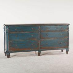 Library Dresser - Antique Blue
