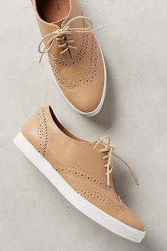 All Black Wingtip Sneakers - anthropologie.com