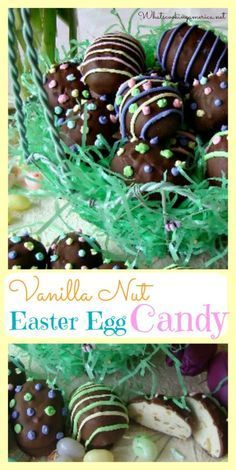 Vanilla Nut Easter Eggs Candy Recipe Super fun and tasty baking must try this long weekend! Easter Egg Candy, Easter Treats, Easter Eggs, Easter Food, Kid Desserts, Easter Desserts, Divinity Candy, Home Made Candy, Candied Walnuts