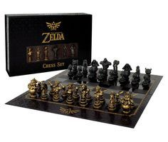 So you& mastered every sword and gathered every Triforce? Return to Hyrule and checkmate Ganon with this Collector& Chess Set - a battle of wits featuring the heroes and villains of The Legend of Zelda: Ocarina of Time . The Legend Of Zelda, Legend Of Zelda Breath, Chess Pieces, Game Pieces, Chess Sets, Ocarina Of Time, Geek Mode, Zelda Gifts, Zelda Twilight Princess