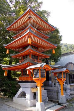 Kiyomizu Temple Red Pagoda-- oldest temple in Kurate county, Fukuoka