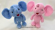 Little Bigfoot Elephant Video and Pattern ~ Amigurumi To Go