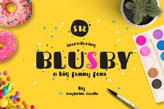 BLUSBY by Heybrinc Studio available for $12.00 at FontBundles.net