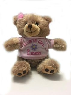Adopted By HELENA Teddy Bear Wearing a Personalised Name T-Shirt HELENA-TB1