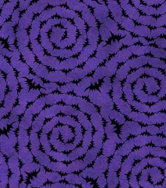 Holiday Inspirations Halloween Fabric-Circular Bats: Jo-Anns