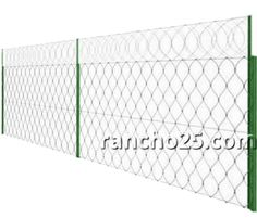 aggressive-type high-security perimeter fence systems - razor wire www.rancho25.com
