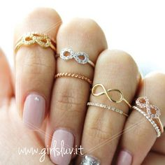 girlsluv.it - infinity knuckle ring, crystals
