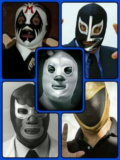 Santo,Tinieblas,Mil Mascaras,Blue Demon y Rayo de Jalisco