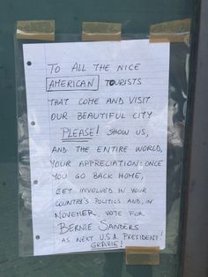 Found on a side street in Rome...a plea for American tourists to vote for Bernie Sanders ❤️ That makes me extra proud to be part Italian. Grazie mille ❤️