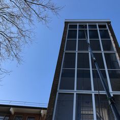 Trappenhallen wassen met het telewash systeem