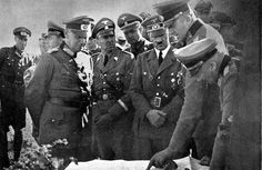 Hitler in Poland by Heinrich Hoffmann -- Major-General Lichel describes the course of the battle