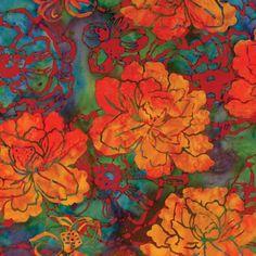 Hoffman Camilla Blooms batik