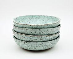 Rustic Bowl Ceramic Bowl Serving Bowl Mint door susansimonini