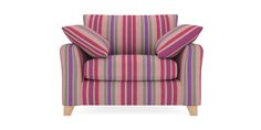 Buy Alexis Snuggle Seat (2 Seats) Plush Velvet Stripe Plum Low Tapered - Light from the Next UK online shop