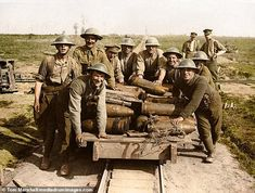 In order to commemorate the centenary of the Battle of Passchendaele, one of the bloodiest battles of World War I, professional photo colorizer has Tom Ww1 Photos, Colorized Photos, World War One, First World, Ww1 Battles, Battle Of Passchendaele, Ww1 History, Military History, Ww1 Soldiers