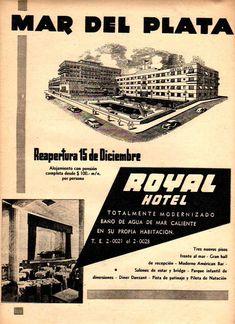 Hotel ROYAL, Mar del Plata, década del 50.,esta abandonado hace mas de 20 años Good People, No Time For Me, Design Art, Scenery, History, Movie Posters, Travel, Image, Origami