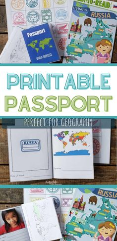 """Use this printable passport for kids as you """"visit"""" countries around the world so they can stamp their passport just like a real world traveler. Learning about geography and world cultures can be a blast and keep track by adding printable passport stamps to it. Get it now! Geography Lesson Plans, Geography Activities, Educational Activities, Preschool Activities, Play Based Learning, Learning Through Play, Passports For Kids, Around The World Theme, Passport Stamps"""