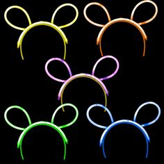 10x Glow in the Dark Bunny Ears - Glow Stick Bright Neon - Parties Festivals in Home, Furniture & DIY, Celebrations & Occasions, Party Supplies | eBay £9.99