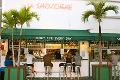 la sandwicherie | miami beach | order the chicken salad on a croissant with extra vinegarette