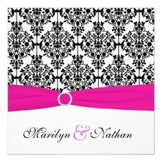 ReviewPRINTED RIBBON Pink White Black Damask Wedding Personalized InvitationsWe have the best promotion for you and if you are interested in the related item or need more information reviews from the x customer who are own of them before please follow the link to see fully reviews