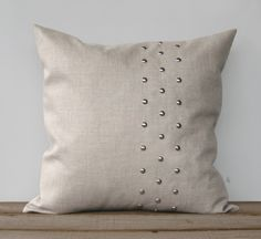 Metallic Silver Studded Pillow Cover in by JillianReneDecor, $120.00