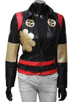Katana Suicide Squad Black Leather Jacket at Amazon Women's Coats Shop