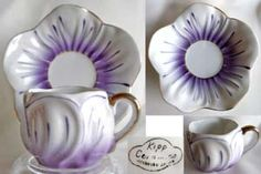 Kipp Ceramics Cups and Saucers Espresso Drinks, Ceramic Cups, Cup And Saucer, Purple Stuff, Ceramics, Mugs, Tableware, Gifts, Gift Ideas