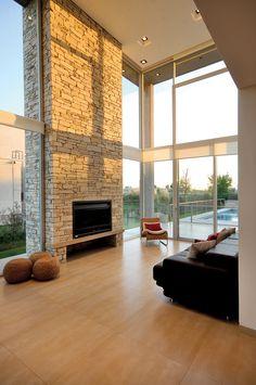 González y Asociados, Casa SF Home Building Design, Home Room Design, Dream Home Design, Modern House Design, My Dream Home, Home Interior Design, Fireplace Design, House Goals, Design Case