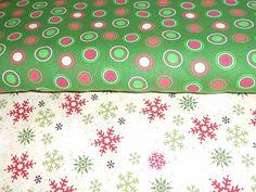 dots & snowflake fabric