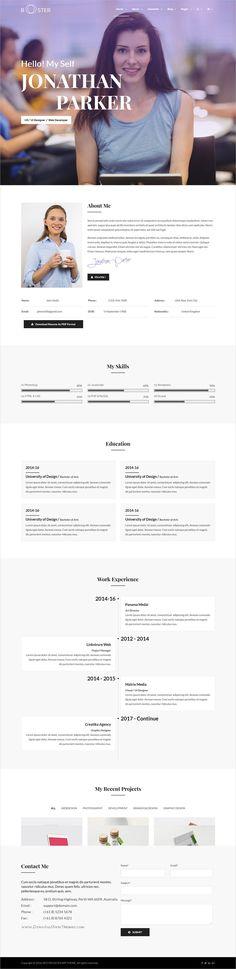Reapse - Creative vCard \/ Resume \/ CV Template Cv template and - bootstrap resume template