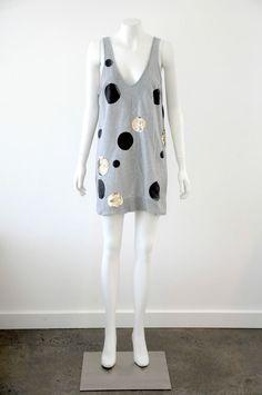 Sass & Bide  Women s Grey Cotton Sleeveless Dress / Tunic {Size US 8 / AUS 12}