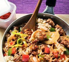 Kruidige rijst met gehakt en nasigroenten - Recept - Jumbo Supermarkten