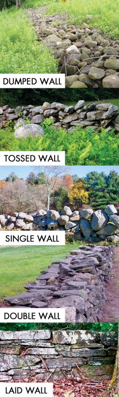 Stone walls of New England  Credit: all: Robert M. Thornton