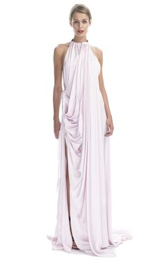 Vionnet Viscose Satin Gown - has a stunning open back.