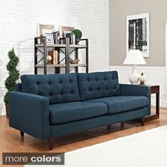 Shop for Empress Tufted Upholstered Sofa. Get free shipping at Overstock.com…