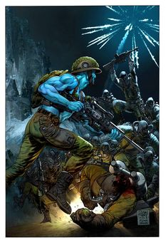 Rogue Trooper by Glenn Fabry & Ryan Brown Best Comic Books, Comic Books Art, Comic Art, Arte Sci Fi, Sci Fi Art, Sci Fi Comics, Fun Comics, Comic Book Characters, Comic Character