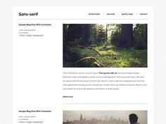 Sans-serif — Temi gratuiti per WordPress