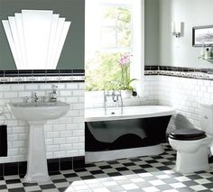 Bathroom design | Art Deco style | Real Homes | Home improvement and decorating inspiration