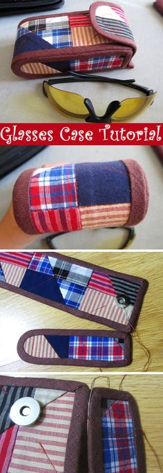 Patchwork Glasses Case, Sewing Tutorial.  http://www.free-tutorial.net/2017/01/glasses-case-to-sew.html