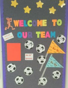 back+to+school+bulletin+boards | Welcome to our Team- back to school or PE bulletin board welcome to ...