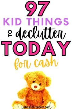 Make Money Fast, Make Money From Home, Cash Today, Declutter Your Home, Extra Money, Things To Sell, Kids, House, Babies