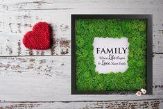 Moss Wall Art, Moss Art, Moss Decor, Green Wall Decor, Family Wall Art, Beginner Painting, New Home Gifts, Nursery Wall Decor, Garden Crafts