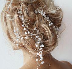 Pearl Wedding Hair pins Clips Bridal Pearl Hair pins by ADbrdal, $26.00
