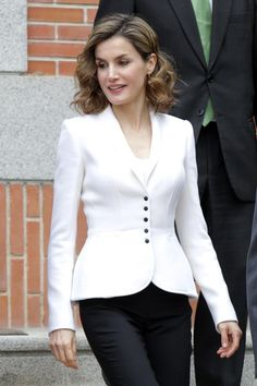 Queen Letizia of Spain attends a meeting for Miguel de Cervantes IV Centenary at Zarzuela Palace on April 14 2016 in Madrid Spain