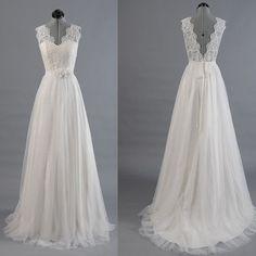 In blush Best Sale Vantage V-Back Lace Top Simple Design Wedding Party Dresses, WD0036